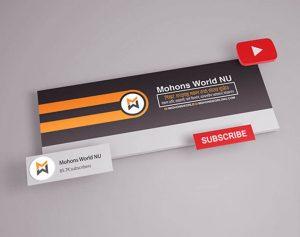 نموذج غلاف يوتيوب