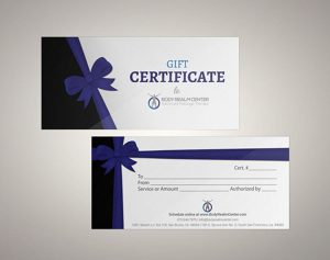نموذج كوبون هدية Gift Certificate